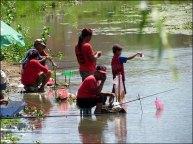 Pokhara - Lac 'Phewa', pêcheurs