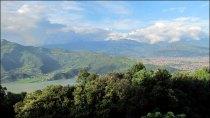 Pokhara - Sur le chemin de la 'World Peace Pagoda', vue