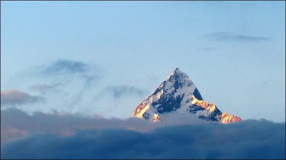 Sangarkot - Vue sur la chaine de l'Anapurna