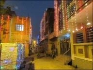 Agra - Au hasard des rues, décoration durant Diwali