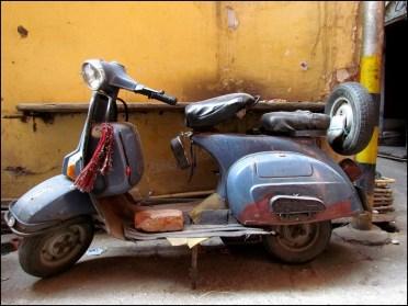 Delhi - Au hasard des rues, scooter