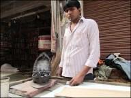 Fatehpur Sikri - Au hasard des rues, repasseur