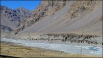 Himalaya - Vallée de Spiti - Sur la route entre le de Col de 'Kunzum Pass' et Kaza