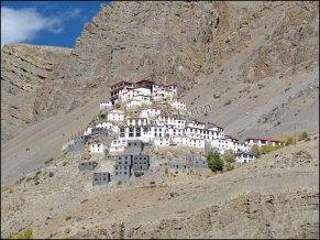 Himalaya - Vallée de Spiti - Vue sur le monastère de Key