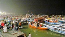 Varanasi - Rivière 'Gange', cérémonie 'Ganga aarti'