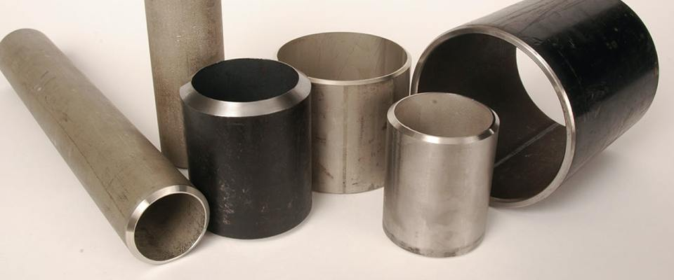 Selection of different size pipes and beveled ends