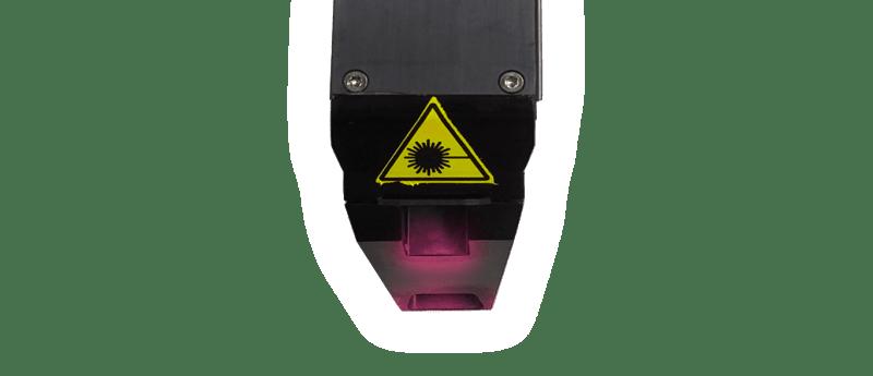 Heavy duty spatter shield on a laser sensor