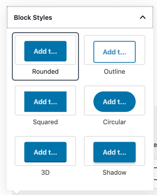 Block styles for a button.