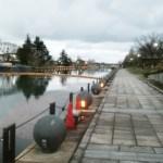 富岩運河環水公園のおすすめランニングコースは中島閘門の折り返しコース