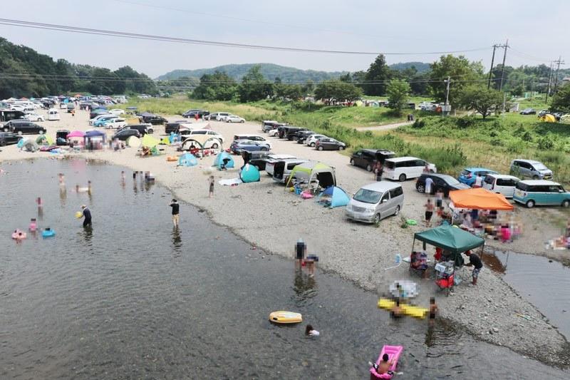 ソロキャンプ向き学校河原キャンプ場