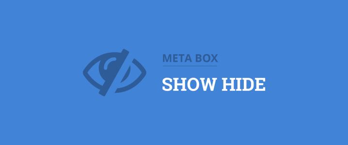 Show or hide meta boxes conditionally