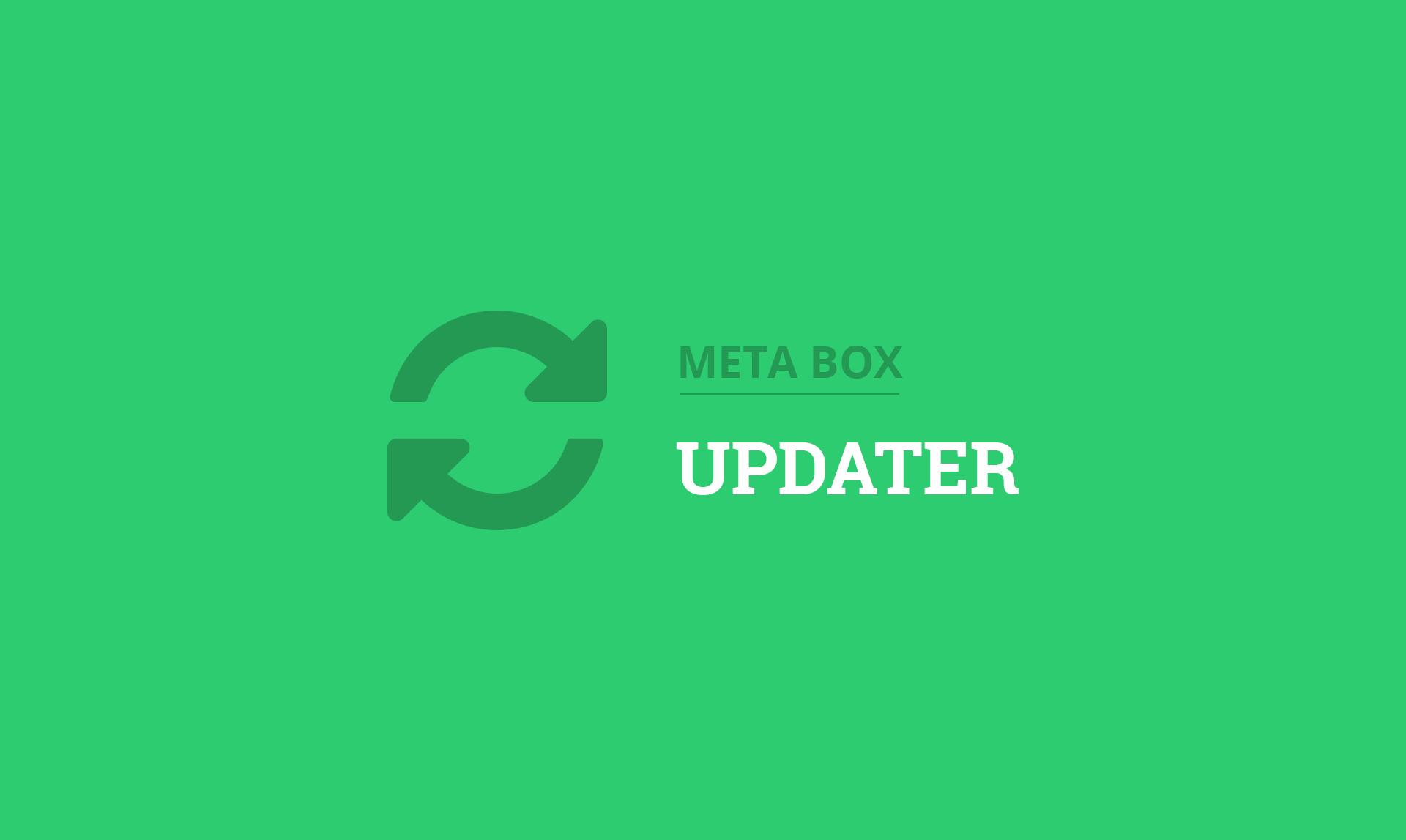 Meta Box Updater