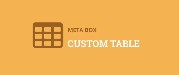 Custom table for WordPress custom fields