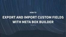 Export import custom fields by Meta Box Builder