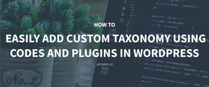 How to easily add custom Taxonomy using codes and plugins in Wordpress