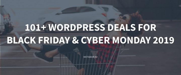 101+ WordPress Black Friday & Cyber Monday Deals 2019