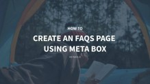 How to Create an FAQs Page Using Meta Box