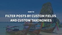 How to Filter Posts by Custom Fields and Custom Taxonomies on Archive Pages