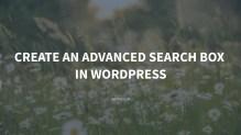 Create an Advanced Search Box in WordPress