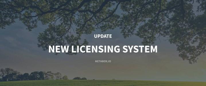 Meta Box Update New Licensing System