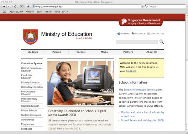 MOE website