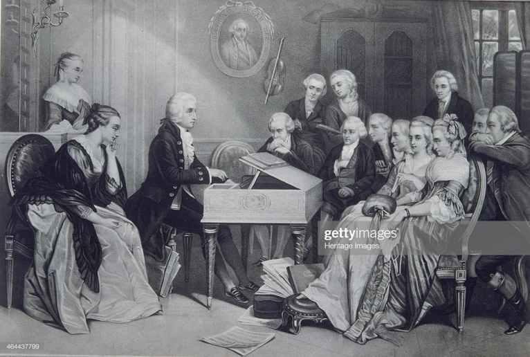 Concierto en la casa de Mozart en Viena.