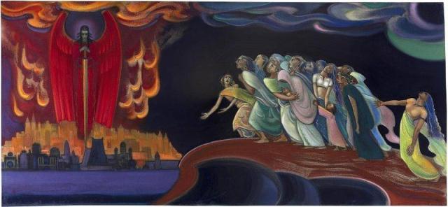 Картина Святослава Рериха. Воззри, человечество! (Предупреждение человечеству). 1962