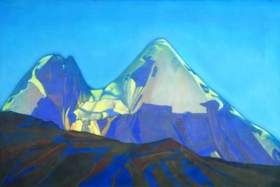 Картина Святослава Рериха. Две вершины. Гепанг 1934