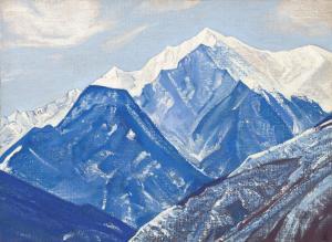 Картина Н.К.Рериха, Белые Гималаи. # 27 1931