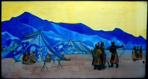 Картина Н.К.Рериха. Монгольская стрела 1926-1927