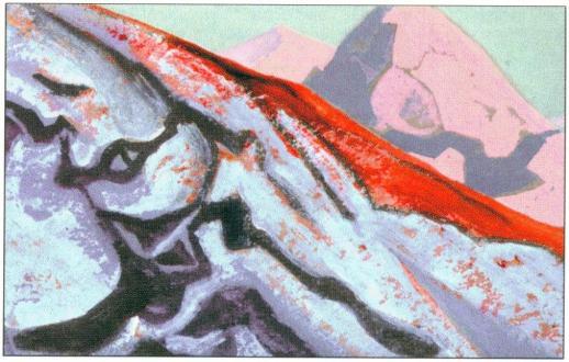 Картина Н.К.Рериха. Вечерний холм. 1938