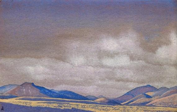 Картина Н.К.Рериха. Монголия. Холмы Чахара. 1936