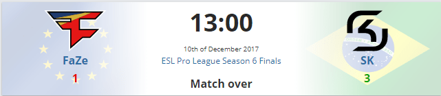 SK Gaming vence Grand Final ESL Pro League CS GO sk gaming faze clan