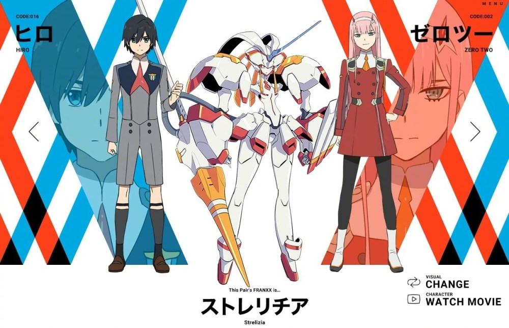 hiro-zero-two-personagens darling in the franxx