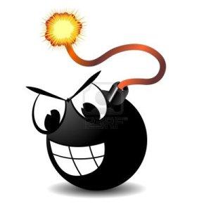 bomba-con-ardor-de-ojos-fusibles-y-dibujos-animados-en-blanco