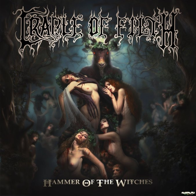 """Hammer of The Witches"" album cover Cradle of Filth"