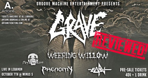 Grave Live In Lebanon | Concert Review