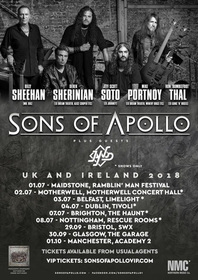 JAY WUD Tour With SONS OF APOLLO