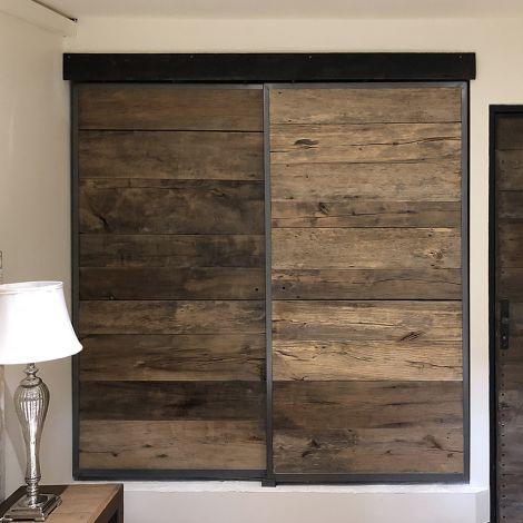 portes de placards coulissantes metal bois modabo