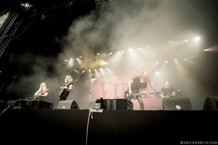 Vuur sur scène lors du Dynamo metal fest en 2017