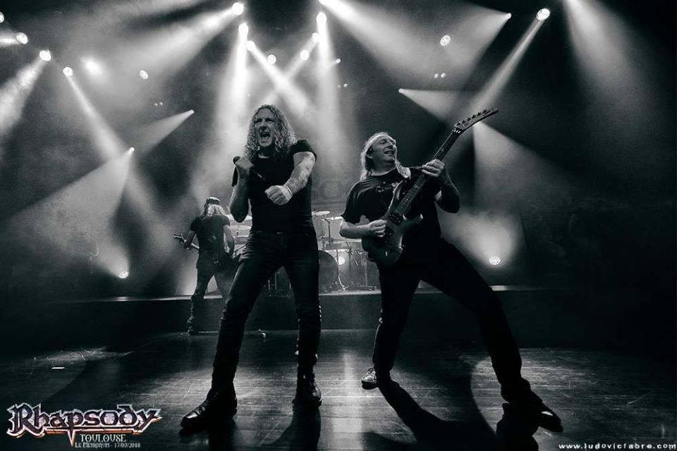 Rhapsody au Metronum de Toulouse en 2018