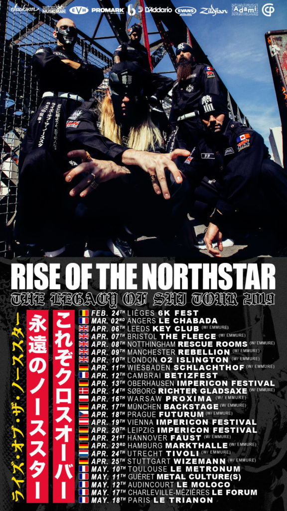 RISE OF THE NORTHSTAR en tournée européenne en 2019