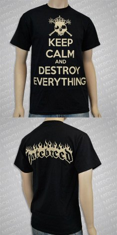 hatebreed keep calm and destroy everything shirt
