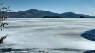 Frozen Lake George