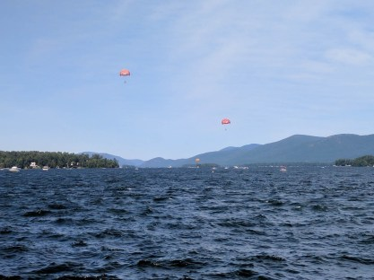 Parasailing over Lake George