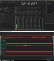 Screenshot of Keith's Computer using Audacity to record the podcast.