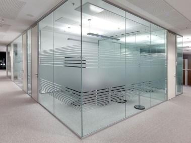Division en vidrio flotante y aluminio