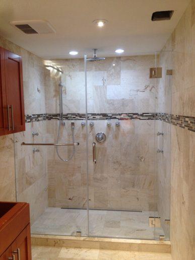 Frameless Shower Glass Doors with Lovely Frameless Bathroom Doors Beautifying