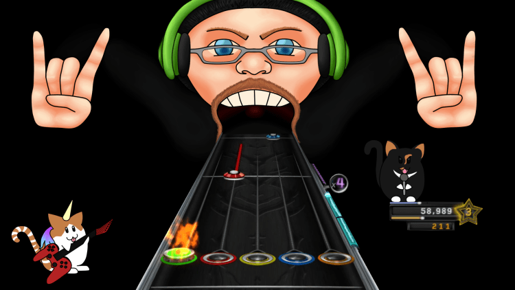 Guitar Hero custom background