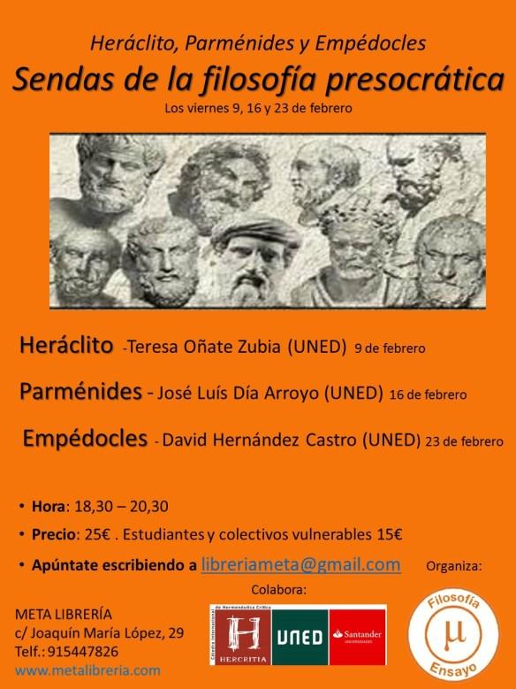 Cartel curso Presocráticos -UNED (1)